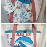Blue Bird Flour Purse